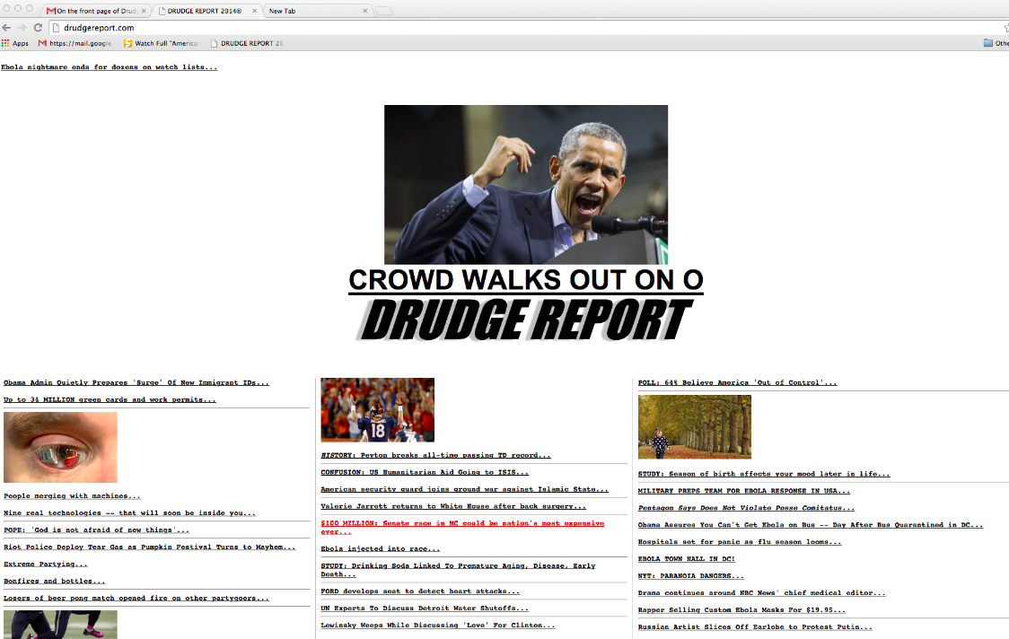 Drudge Report | The Eyeborg Project